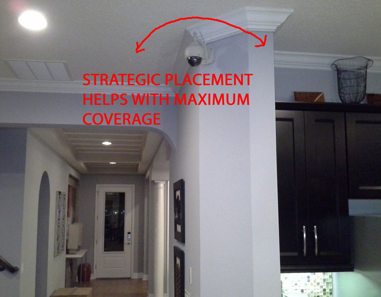 Home security camera placement for Interior home security cameras