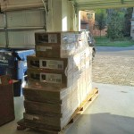 Pallet of cabinets