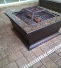 Fire-Pit Table Wood Burning