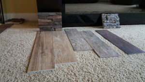 Some of our tile samples. We didn't go with any of these, actually.