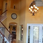Our Yellow walls and Old Chandelier